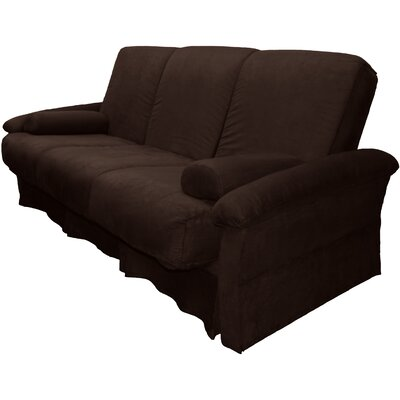 Perfect Sit N Sleep Futon Chair Size: Full, Upholstery: Suede Chocolate Brown