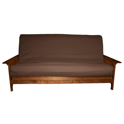 Futon Slipcover Size: Full, Upholstery: Twill Brown, Futon Mattress Thickness: 6 - 8
