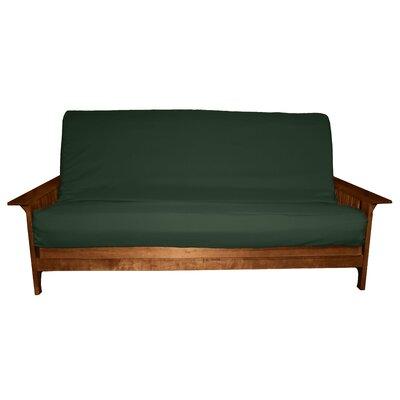 Futon Slipcover Size: Full, Upholstery: Twill Hunter Green, Futon Mattress Thickness: 6 - 8