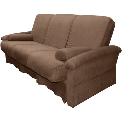 Perfect Sit N Sleep Futon Chair Upholstery: Suede Mocha Brown, Size: Queen