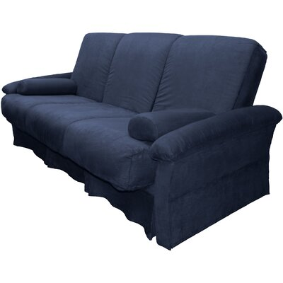 Perfect Sit N Sleep Futon Chair Size: Chair, Upholstery: Suede Dark Blue