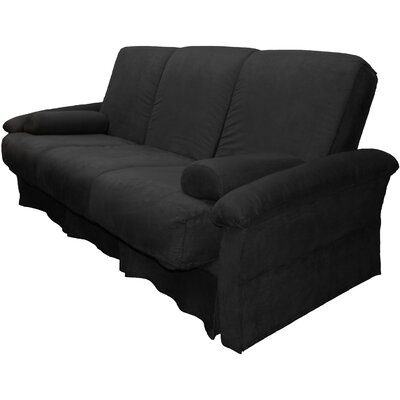 Perfect Sit N Sleep Futon Chair Size: Full, Upholstery: Suede Ebony Black