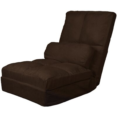 Batres Futon Chair Size: 36.5 H x 28 W x 26 D, Upholstery: Suede Chocolate Brown
