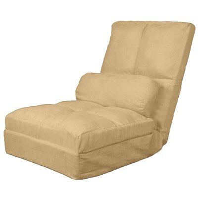 Batres Futon Chair Size: 36.5 H x 28 W x 26 D, Upholstery: Suede Khaki