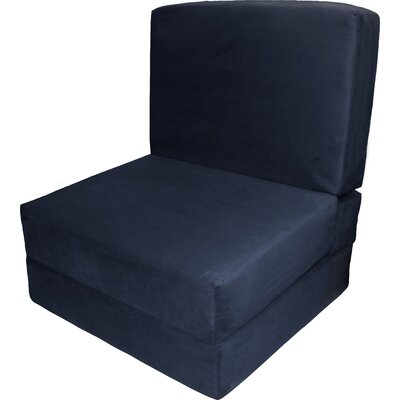 Bator Convertible Chair Upholstery: Suede Dark Blue