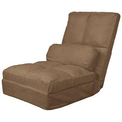 Batres Futon Chair Size: 36.5 H x 28 W x 26 D, Upholstery: Suede Mocha Brown