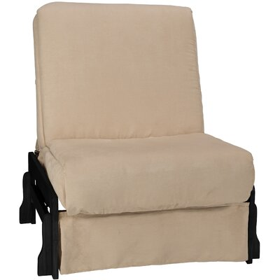 Perfect Box Cushion Futon Slipcover Size: Chair, Upholstery: Suede Khaki