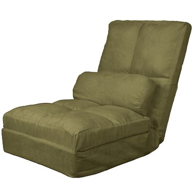 Batres Futon Chair Size: 36.5 H x 28 W x 26 D, Upholstery: Suede Olive Green