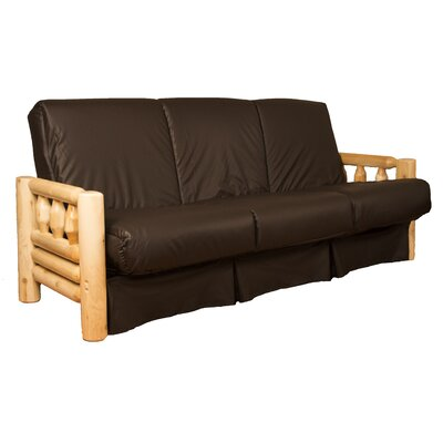 Grand Teton Futon and Mattress Upholstery: Leather Look Brown, Size: Full