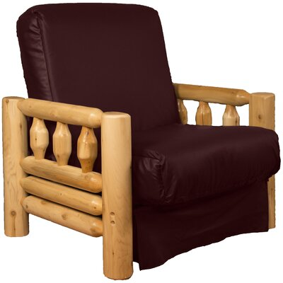 Grand Teton Futon Chair Upholstery: Leather Look Bordeaux