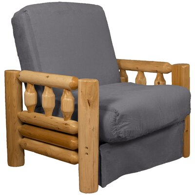 Grand Teton Futon Chair Upholstery: Suede Slate Grey