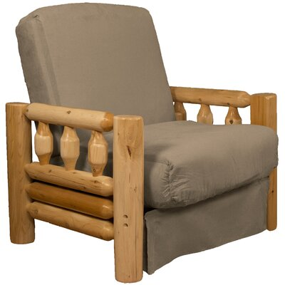Grand Teton Futon Chair Upholstery: Suede Mocha Brown