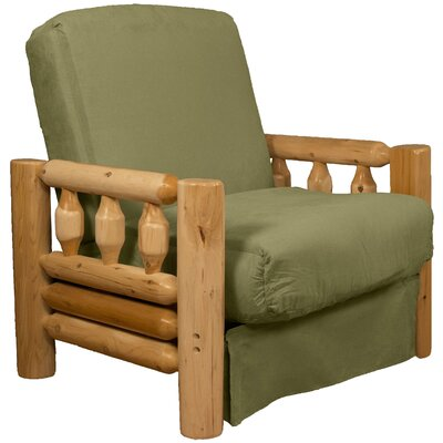 Grand Teton Futon Chair Upholstery: Suede Olive Green