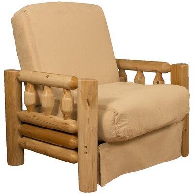 Grand Teton Futon Chair Upholstery: Suede Khaki