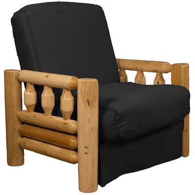 Grand Teton Futon Chair Upholstery: Suede Ebony Black