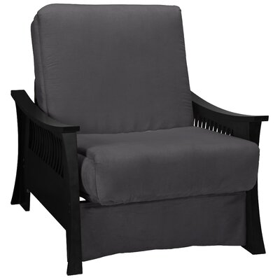 Beijing Futon Chair Upholstery: Slate Gray, Frame Finish: Black