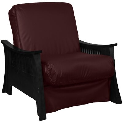 Beijing Futon Chair Frame Finish: Black, Seat Finish: Bordeaux