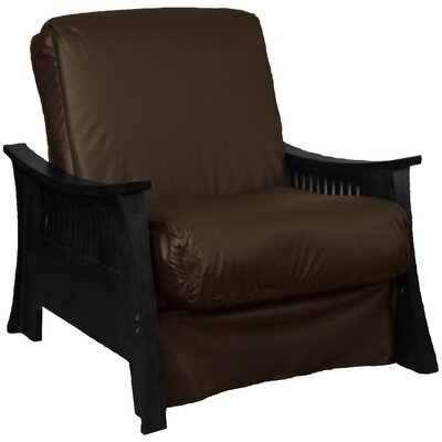 Beijing Futon Chair Frame Finish: Black, Seat Finish: Brown