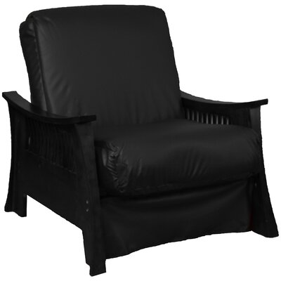 Beijing Futon Chair Upholstery: Black, Frame Finish: Black
