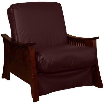 Beijing Futon Chair Upholstery: Bordeaux, Frame Finish: Mahogany