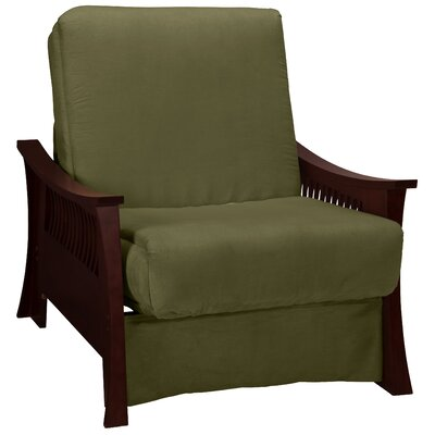 Beijing Futon Chair Frame Finish: Mahogany, Seat Finish: Olive Green