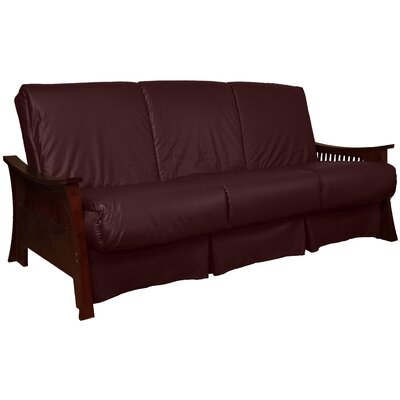 Beijing Perfect Sit N Sleep Futon and Mattress Size: Queen, Finish: Mahogany, Upholstery: Bordeaux