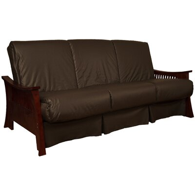 Beijing Perfect Sit N Sleep Futon and Mattress Finish: Mahogany, Size: Full, Upholstery: Brown