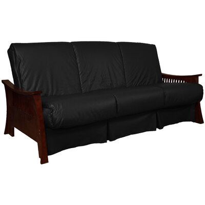 Beijing Perfect Sit N Sleep Futon and Mattress Size: Queen, Finish: Mahogany, Upholstery: Black