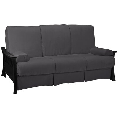 Beijing Perfect Sit N Sleep Futon and Mattress Finish: Black, Size: Queen, Upholstery: Dark Blue