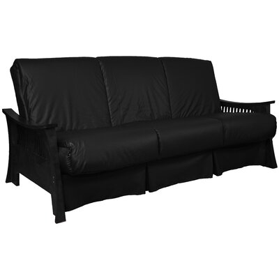 Beijing Perfect Sit N Sleep Futon and Mattress Size: Full, Finish: Black, Upholstery: Black