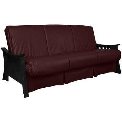 Beijing Perfect Sit N Sleep Futon and Mattress Size: Queen, Finish: Black, Upholstery: Bordeaux
