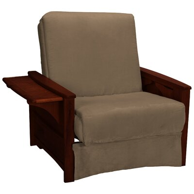 Valet Perfect Sit and Sleep Futon Chair Finish: Mahogany, Upholstery: Suede - Mocha Brown