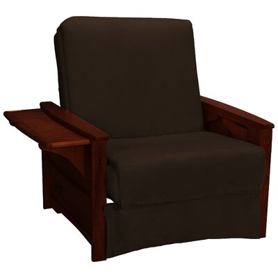 Valet Perfect Sit and Sleep Futon Chair Finish: Mahogany, Upholstery: Suede - Chocolate Brown