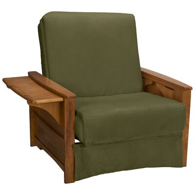 Valet Perfect Sit and Sleep Futon Chair Upholstery: Suede Olive Green