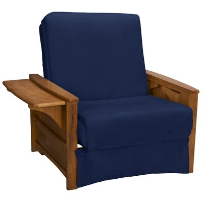 Valet Perfect Sit and Sleep Futon Chair Upholstery: Suede Dark Blue