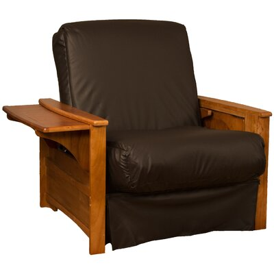 Valet Perfect Sit and Sleep Futon Chair Upholstery: Leather Look Brown