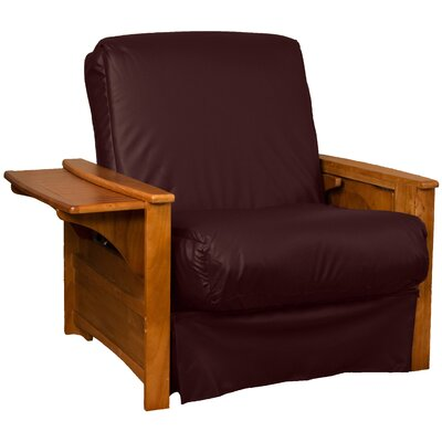 Valet Perfect Sit and Sleep Futon Chair Upholstery: Leather Look Bordeaux