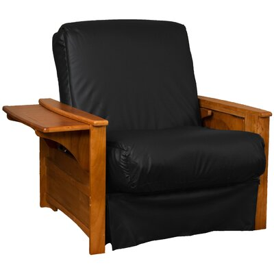 Valet Perfect Sit and Sleep Futon Chair Upholstery: Leather Look Black