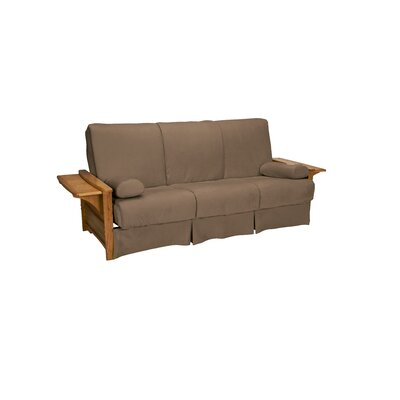 Valet Perfect Sit and Sleep Futon and Mattress Size: Full, Finish: Medium Oak, Upholstery: Suede - Mocha Brown
