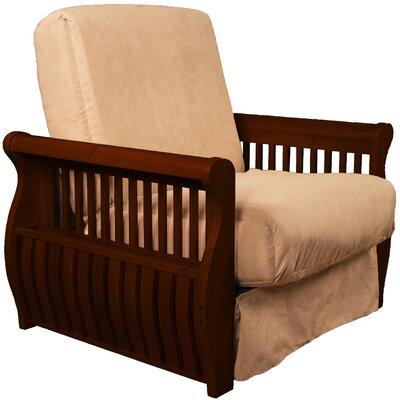 Concord Futon Chair Finish: Mahogany, Upholstery: Khaki