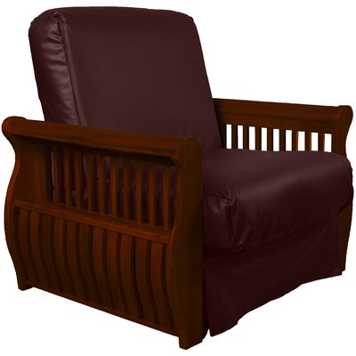 Concord Futon Chair Upholstery: Bordeaux, Finish: Mahogany