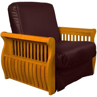 Concord Futon Chair Upholstery: Bordeaux, Finish: Medium Oak