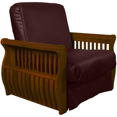 Concord Futon Chair Upholstery: Bordeaux, Finish: Walnut