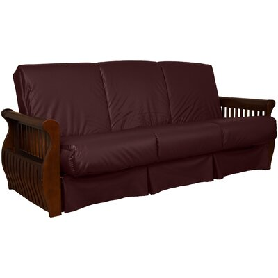 Concord Sit N Sleep Futon and Mattress Upholstery: Bordeaux, Size: Queen, Frame Finish: Walnut