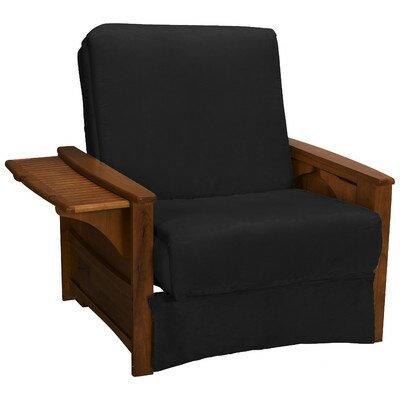 Valet Perfect Sit and Sleep Futon Chair Upholstery: Suede - Ebony Black, Finish: Walnut