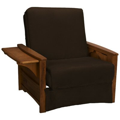 Valet Perfect Sit and Sleep Futon Chair Upholstery: Suede - Chocolate Brown, Finish: Walnut