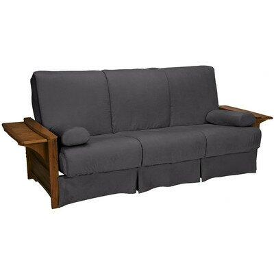 Valet Perfect Sit and Sleep Futon and Mattress Size: Queen, Finish: Walnut, Upholstery: Suede - Slate Grey