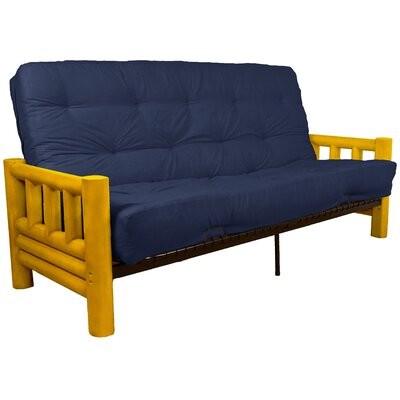 Grand Teton Futon and Mattress Upholstery: Suede Dark Blue, Size: Queen