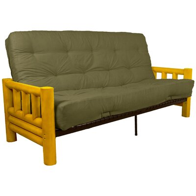 Grand Teton Futon and Mattress Upholstery: Suede Olive Green, Size: Full