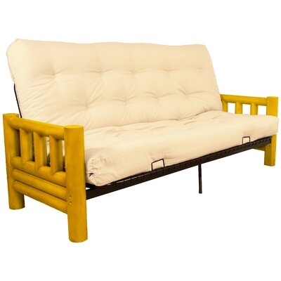 Grand Teton Futon and Mattress Upholstery: Suede Sand, Size: Queen